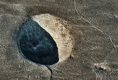 moon print in the sand, Seabrook Island, South Carolina