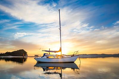 Boat on Managwhai Estuary