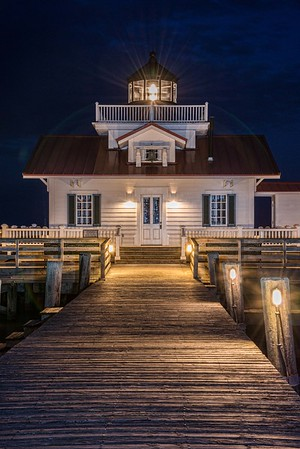 Nightfall at Manteo Lighthouse