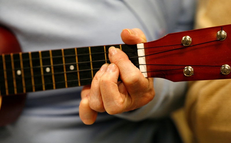 011414 - DELRAY BEACH  - Tavit Smith, a retired Delray Beach psychotherapist and ukulele player held his first Ukulele Get-Together, for players of all abilities on Jan. 14 at the Delray Beach Public Library. Photo by Tim Stepien/The Coastal Star