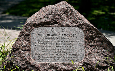 "071113 - LAKE WORTH -  The city's first settlers were Samuel and Fannie James, an African American couple and ex-slaves, known as the Black Diamonds, who settled on the shores of the Lake Worth Lagoon in 1883, as recorded on stone monument located at the northwest corner of Lucerne Avenue and J Street.  Author, Ted Brownstein recently wrote ""Pioneers of Jewell: A Documentary of Lake Worth's Forgotten First Settlement, 1885-1910"". ""Pioneers of Jewell"" tells the story of Jewell of a lost community of pioneers founded in 1885 by Samuel and Fannie James, an African American couple believed to be former slaves.  Photo by Tim Stepien"