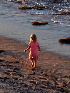 Little Girl on Beach w