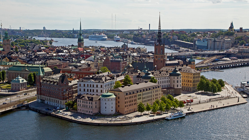 Stockholm city from the tower of City Hall