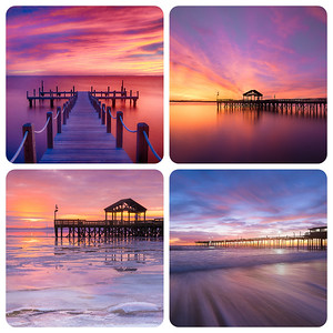 Colorful piers