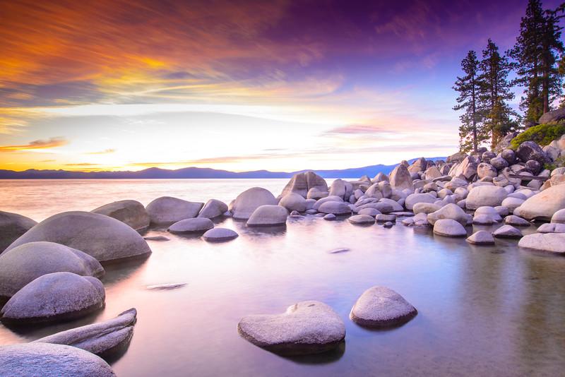 Lake Tahoe at Sunset, Nevada