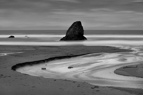 Moonlit Beach, California