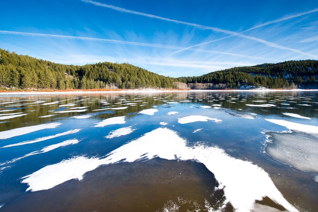 Frozen Spooner Lake, Nevada