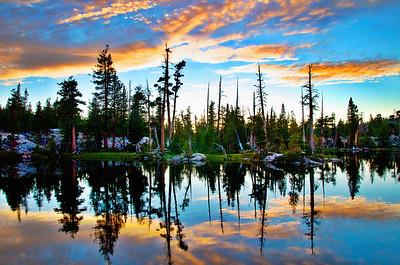 Desolation Wilderness Sunset, California