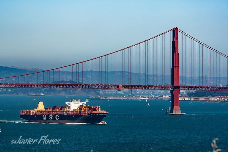 Ship Heading To Sea