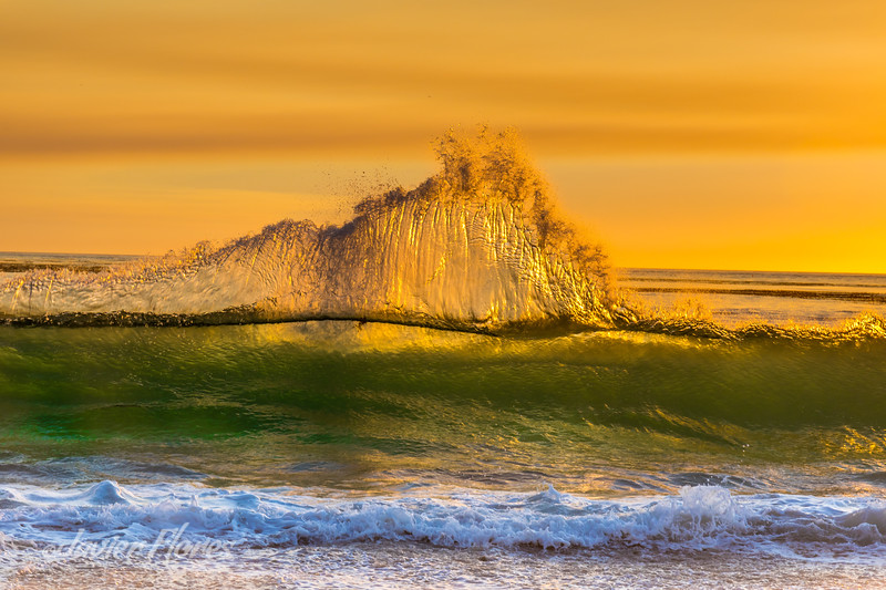 Wave Action at Sunset