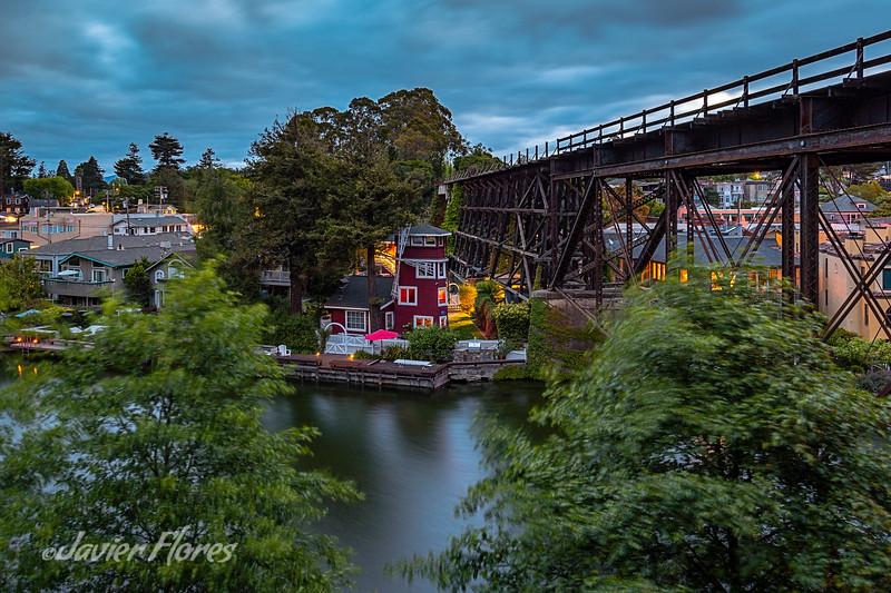Capitola, Soquel Creek and Train Trustle