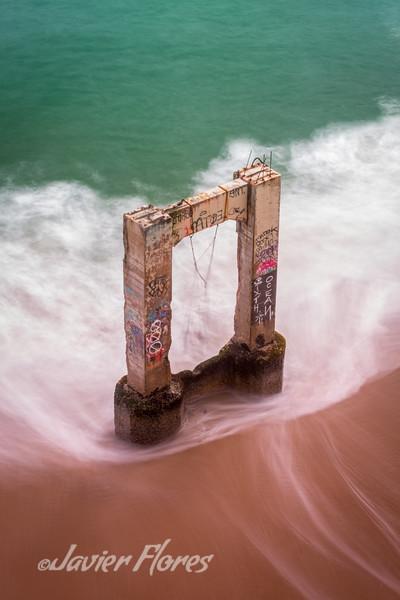 Abandoned Davenport Beach Pier