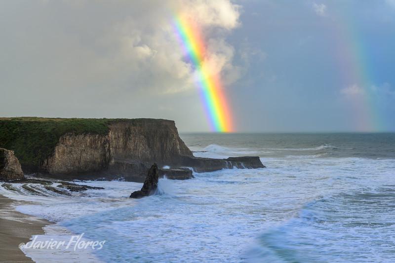 Davenport Beach with Rainbow