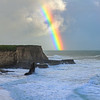 Davenport Beach with Rainbow