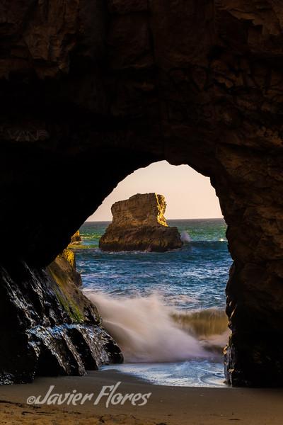 Shark Fin Cove Tunnel