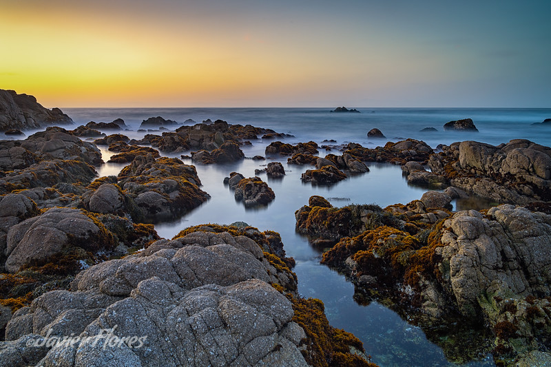 Sunset at Pacific Grove tide pools