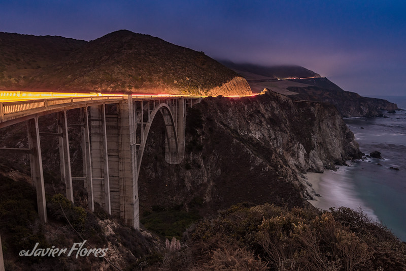 Bixby Creek Bridge at Night