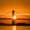 Bay Bridge and Golden Gate Bridges at Sunset