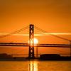 Bay Bridge and Golden Gate Bridges at Sunset