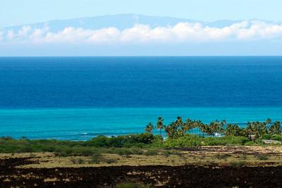 Kohala Coast view of Haleakala