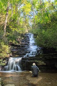 _B0A75605 Olson meditating at Pather Falls