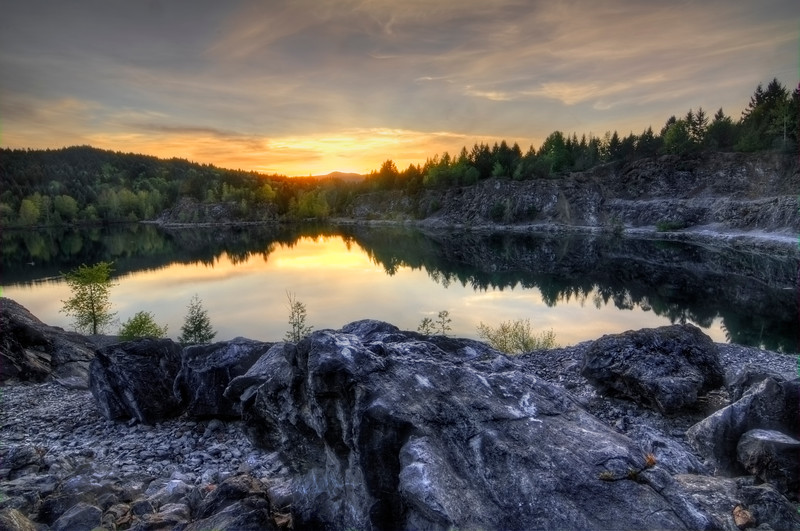 Sunset at the Quarry
