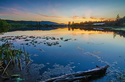 Blue hour, Dougans Lake