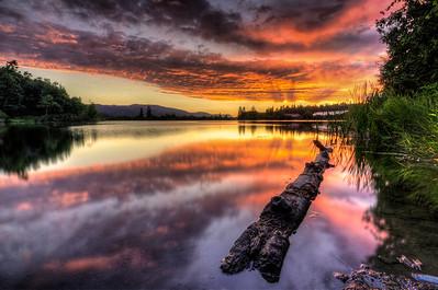 Dougans Lake Sunset Reflections 2