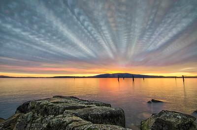 Photo stack sunrise, Mill Bay
