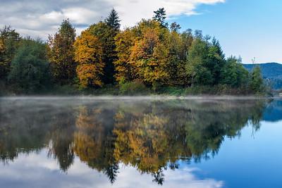 Dougans Lake Autumn Reflections