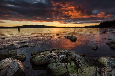 Moody sunrise in MIll Bay