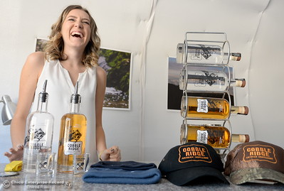 Operations Manager Hailey Hickman smiles as she talks about moonshine during a tour of the Cobble Ridge Distillery in Bangor, Calif. Thurs. Sept. 29, 2016. (Bill Husa -- Enterprise-Record)