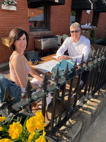City Councilor John Leahy and his lovely wife, Joni, enjoy the festivities.