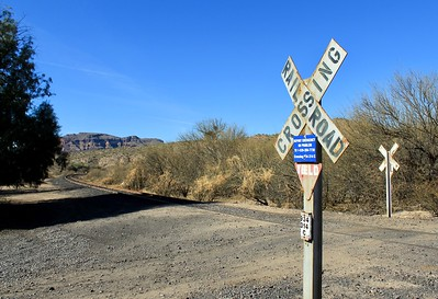 Copper Basin Railway crossing at Cochran (2018)