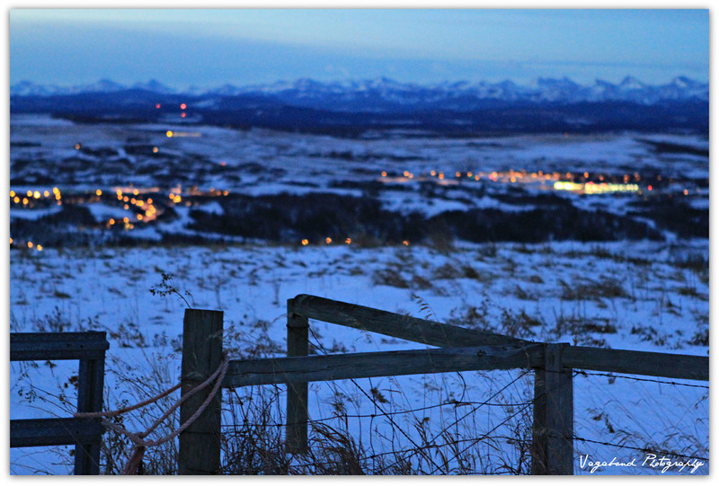 The View of Cochrane Alberta from Big Hill Road