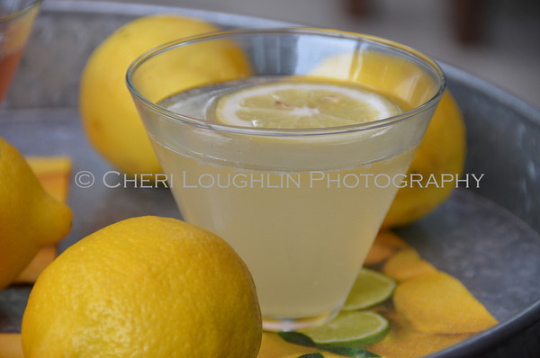 Barefoot Lemon Droplet / Barefoot Lemon Spike - cocktail creation & photography by Cheri Loughlin