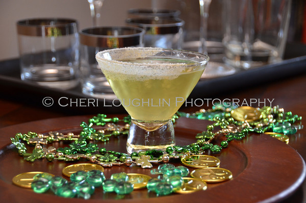 Barefoot Lucky Clover / Apple Martini - cocktail creation & photography by Cheri Loughlin