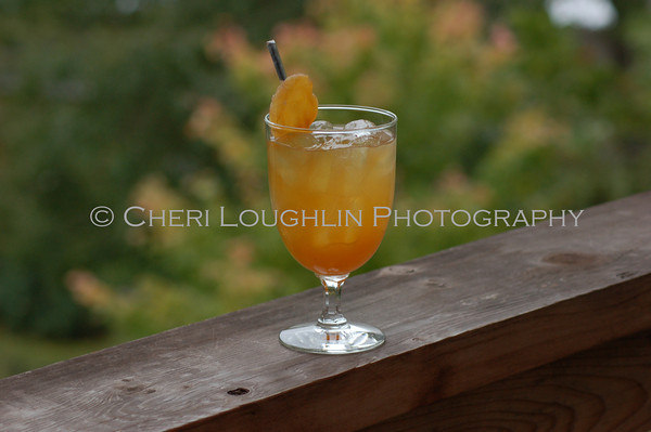 Rocky Mountain Ginger Crisp - cocktail creation & photography by Cheri Loughlin for representatives of Hiram Walker