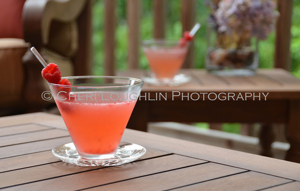Barefoot Raspberry Beret - cocktail creation & photography by Cheri Loughlin