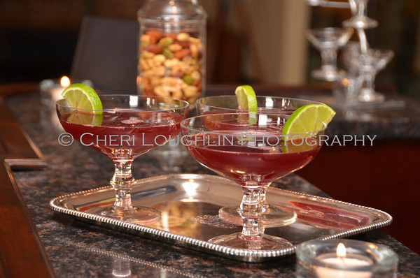 Barefoot Mistletoe Cosmo - cocktail creation & photography by Cheri Loughlin