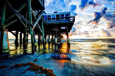 Cocoa Beach Pier Sun Rising