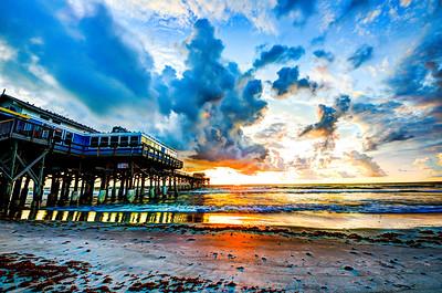 Cocoa Beach Pier standing tall