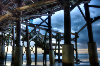 Cocoa Beach Pier Stairs Sunrise
