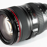 """<b>Canon EF 24-105mm f/4L IS USM</b> <div class=""""gsFont""""> This is the classic """"walkaround"""" lens--jack of all trades, but master of none. IF I'm heading out of the house, and IF I have no idea what I'm going to be photographing, and IF I'm only going to take <em>one</em> lens, this is that lens. That's a lot of <em>""""IFs""""</em>. The fact is, when I don't know what I'll be photographing, I'll often take <em>two</em> lenses -- the 17-40 and either a fast-prime or the 70-200. And if I'm really concerned about weight, mounting this lens on a full-frame body <em>still</em> doesn't qualify as """"lightweight,"""" meaning my little Panasonic LX gets the nod. Caveats aside, this is the ideal utility lens -- light enough to travel with you when photography is a goal (but not your main mission that day), but still able to deliver the goods should a photo opportunity arise. <br><div class=""""gsGray""""><em>Rating: 8 out of 10</em>    Sample Image: <a href=""""http://photos.ultrasomething.com/gallery/4068172_RRjby#261284215_cj6bk-A-LB"""" target=""""_blank"""">A</a>   <a href=""""http://photos.ultrasomething.com/gallery/3738326_umN7f#214647765_oH89X-A-LB"""" target=""""_blank"""">B</a></div> </div>"""