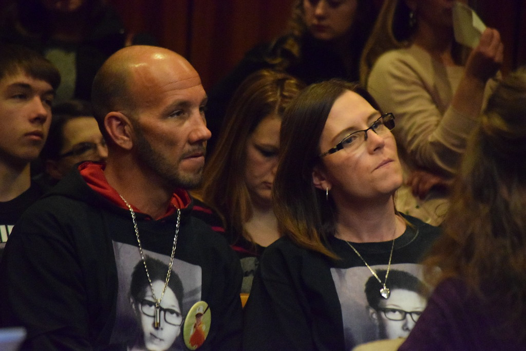 . The parents, Shawn Benoit and Natalie Mannes, in court.   Photo by Jameson Cook / Macomb Daily.