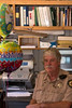 Barry in his office, baloons, May 5, 2007
