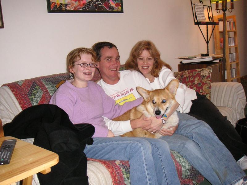 Our family photo at the Rubenstein/Grannans'