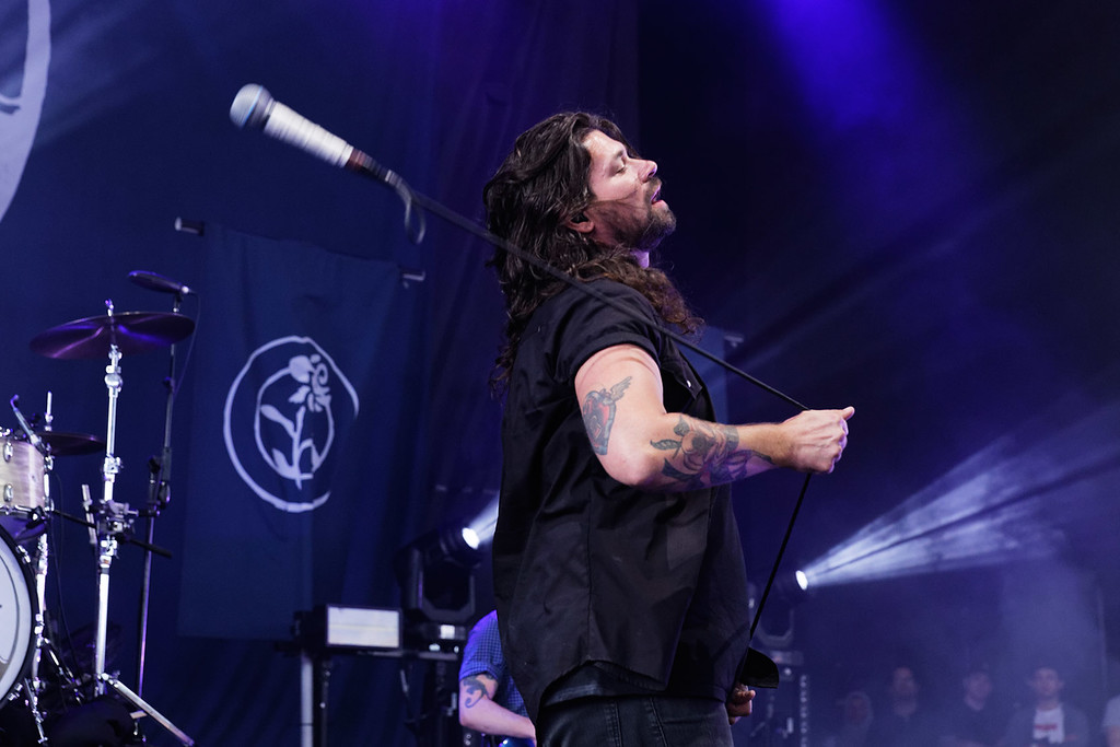 . Taking Back Sunday live at Michigan Lottery Amphitheatre on 7-27-2018.  Photo credit: Ken Settle