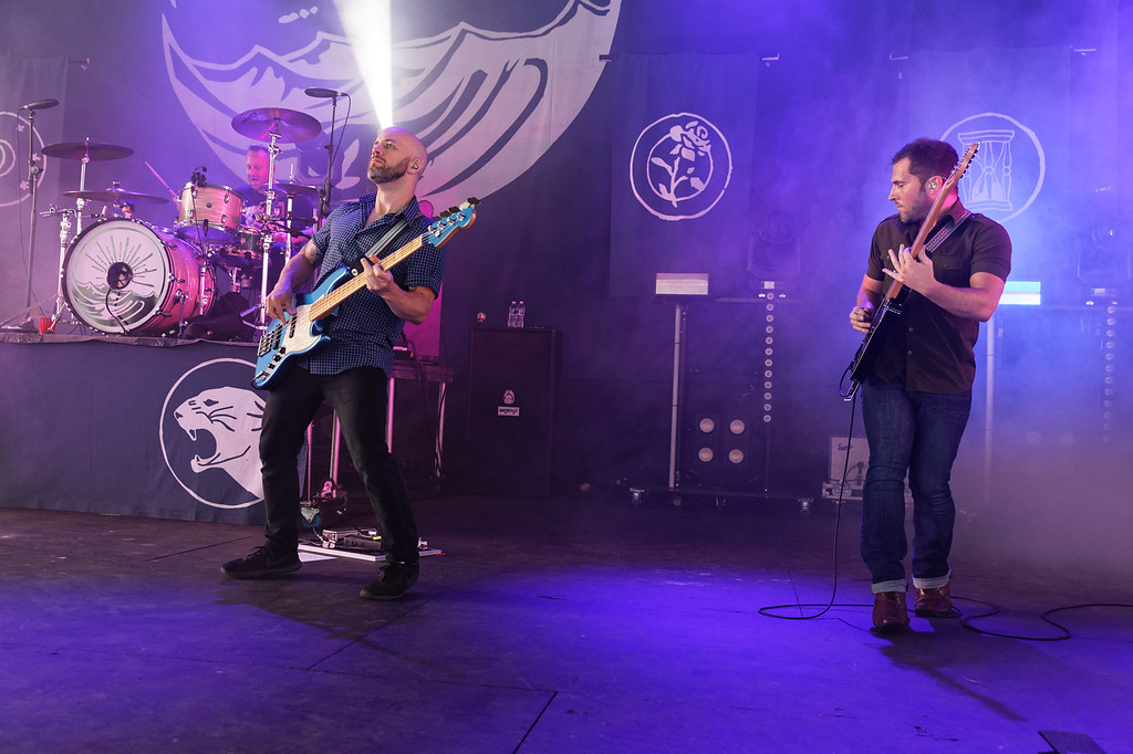 . Taking Back Sunday live at Michigan Lottery Amphitheatre on 7-27-2018.  Photo credit: Ken Settle