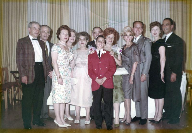 Gardiner Family at Myron Gardiner's Bar-Mitzvah 1960